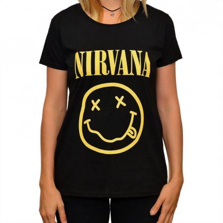 Tricou Femei Nirvana - Smiley0
