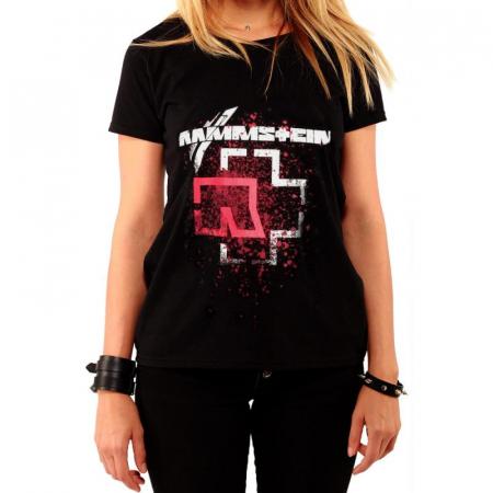 Tricou Femei Rammstein - RED LOGO0
