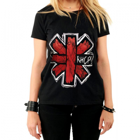Tricou Femei Red Hot Chili Peppers - Faces Logo0