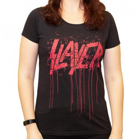 Tricou Femei Slayer - Red Logo [0]