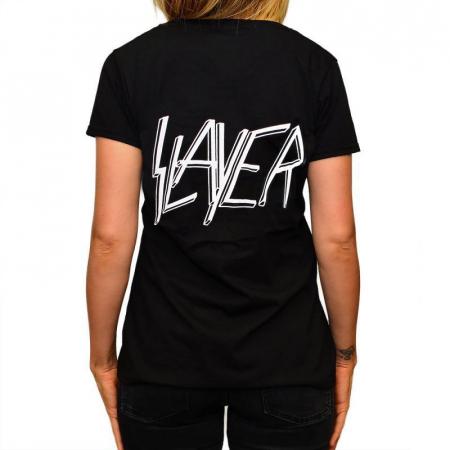 Tricou Femei Slayer - Skull & Bones1