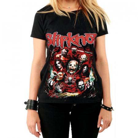 Tricou Femei Slipknot - Masks0