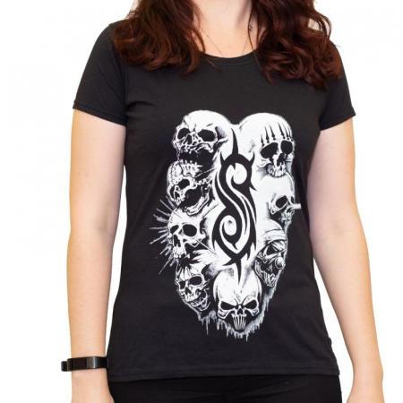 Tricou Femei Slipknot - White Logo [0]