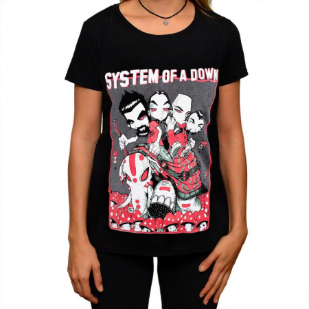 Tricou Femei System of a Down - Mushrooms0