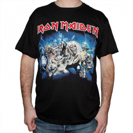 Tricou Iron Maiden - Eddie Faces - 145 grame0