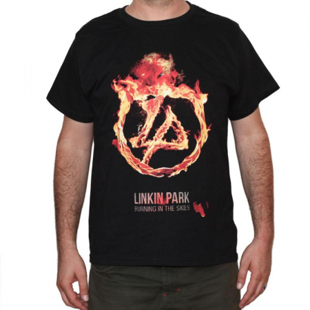 Tricou Linkin Park-Burning In The Skies- 180 grame0