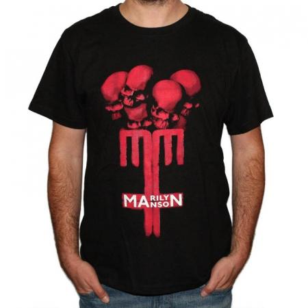 Tricou Marilyn Manson - Skulls - 180 grame0