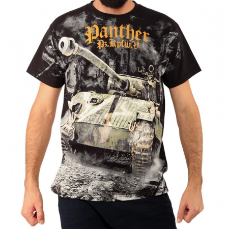 Tricou Military full printed - Panther Tank WWII0