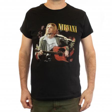 Tricou Nirvana - Kurt chitara - 145 grame0