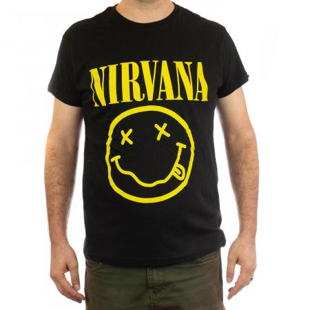 Tricou Nirvana - Smiley 145 grame0