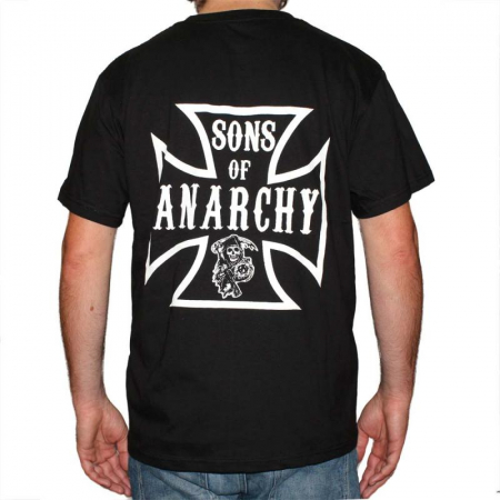 Tricou Sons Of Anarchy - Iron Cross - 180 grame1