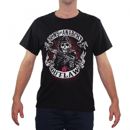 Tricou Sons of Anarchy - Outlaw - 180 grame0