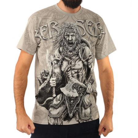 Tricou viking full printed - Berserk0