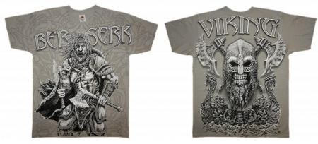 Tricou viking full printed - Berserk2