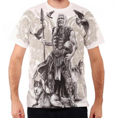 Tricou viking full printed - Odin0