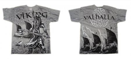 Tricou viking full printed - Valhalla2