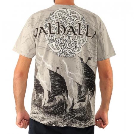 Tricou viking full printed - Valhalla1