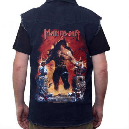 Vesta denim Manowar - Louder than Hell0