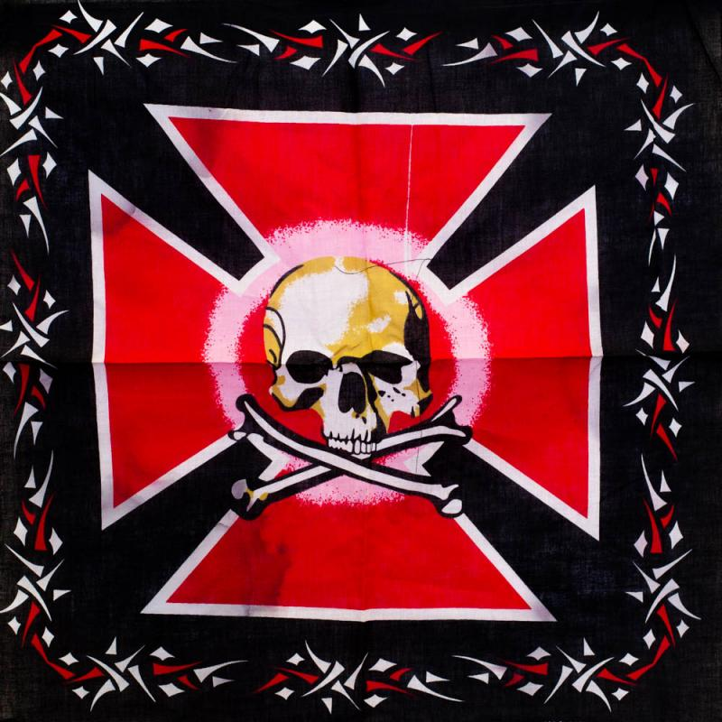 Bandana - Iron Cross Skull 0