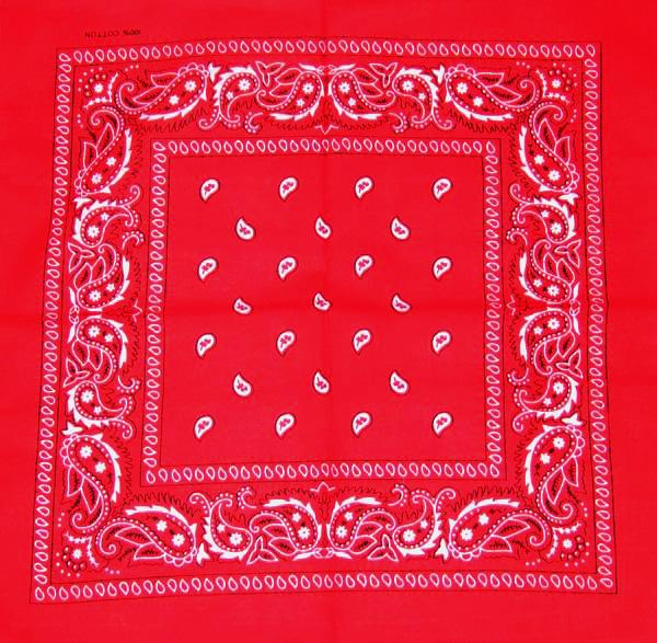 Bandana Motiv floral rosu/alb (B074) 0