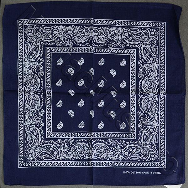 Bandana Motiv floral - albastru inchis [0]