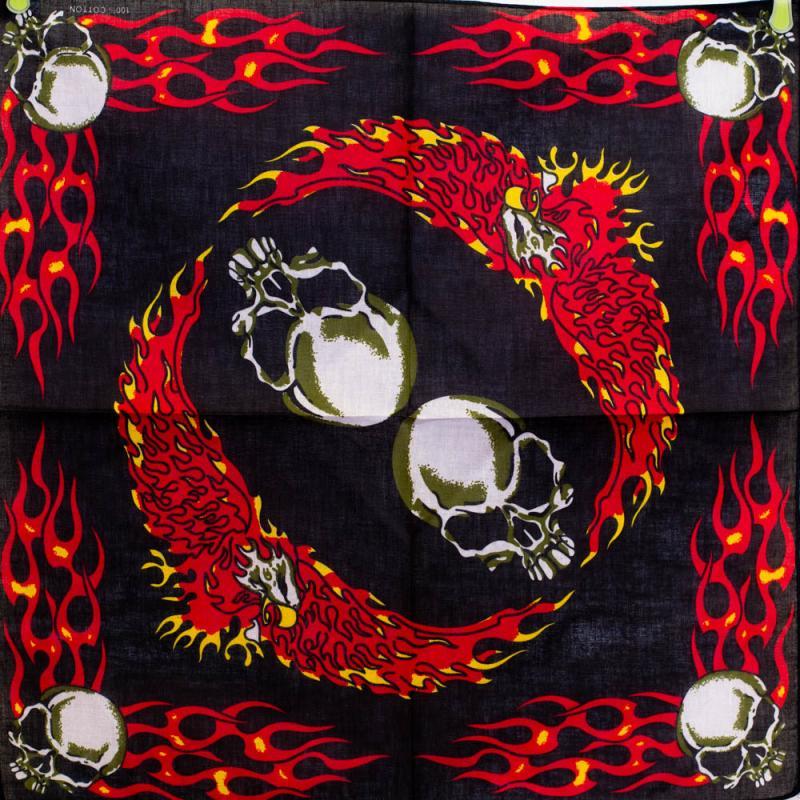 Bandana Skulls and Flames  [0]