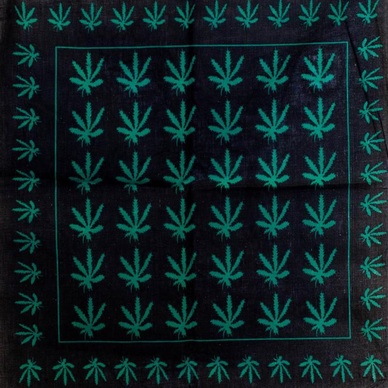 Bandana - Cannabis Leaf Black and Green [0]