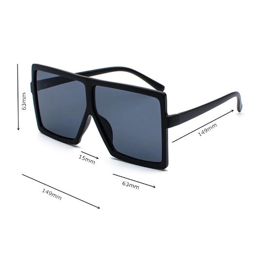 Ochelari de Soare Unisex Supradimensionati Negri 1