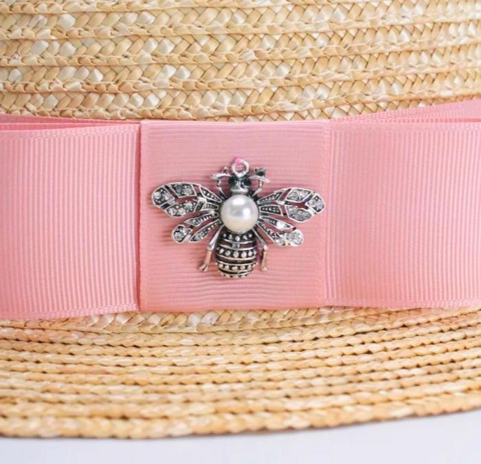 Canotiera Handmade din paie cu fundasi albina 3