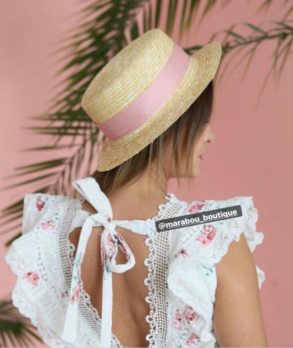 Canotiera Handmade din paie cu fundasi albina 6