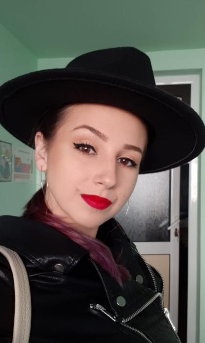 Palarie NeagraHandmade cu bentita detasabila cu tinte 12