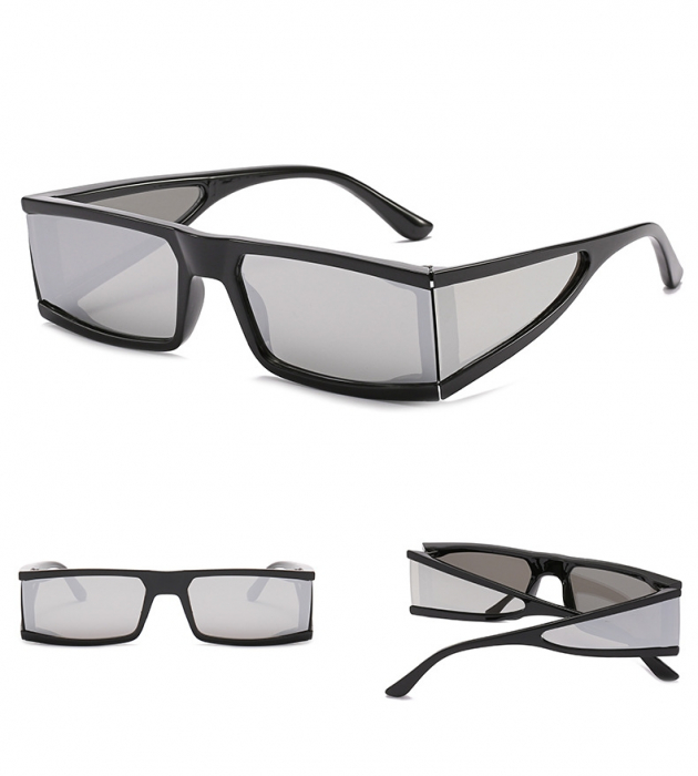 Ochelari de Soare Punk Argintii - Negri 16