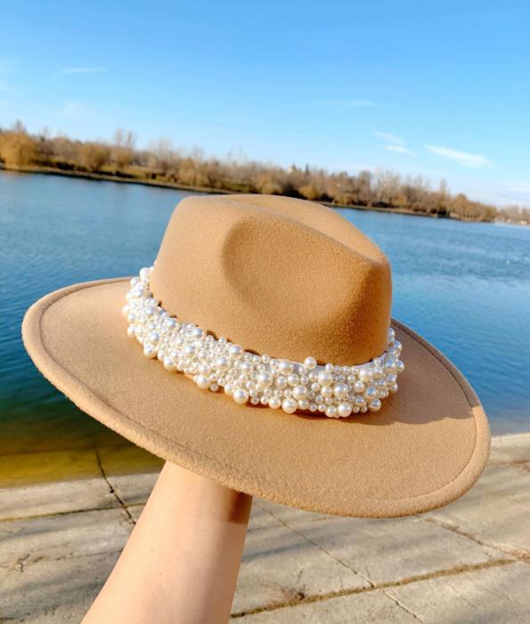 Bentita cu Perle Luxury de purtat pe cap sau pe o palarie 9