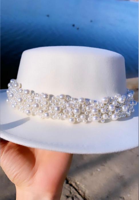 Bentita cu Perle Luxury de purtat pe cap sau pe o palarie 2