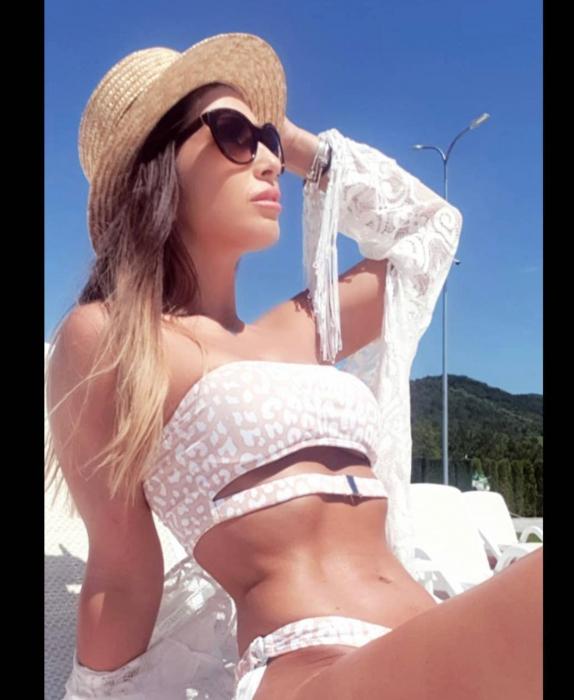Canotiera de Soare Handmade din paie cu Bor Mic si bentita detasabila cu Perle Luxury [14]