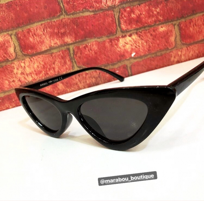 Ochelari de Soare Negri Super Cat Eye 9