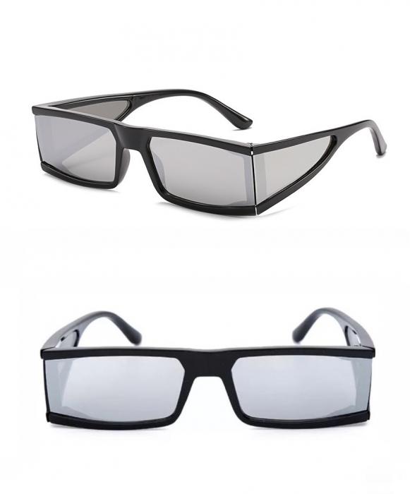 Ochelari de Soare Punk Argintii - Negri 0