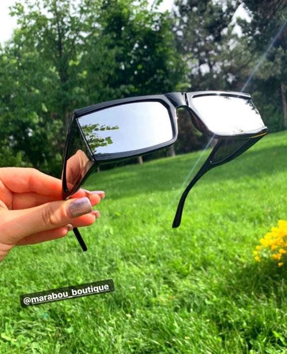 Ochelari de Soare Punk Argintii - Negri 10