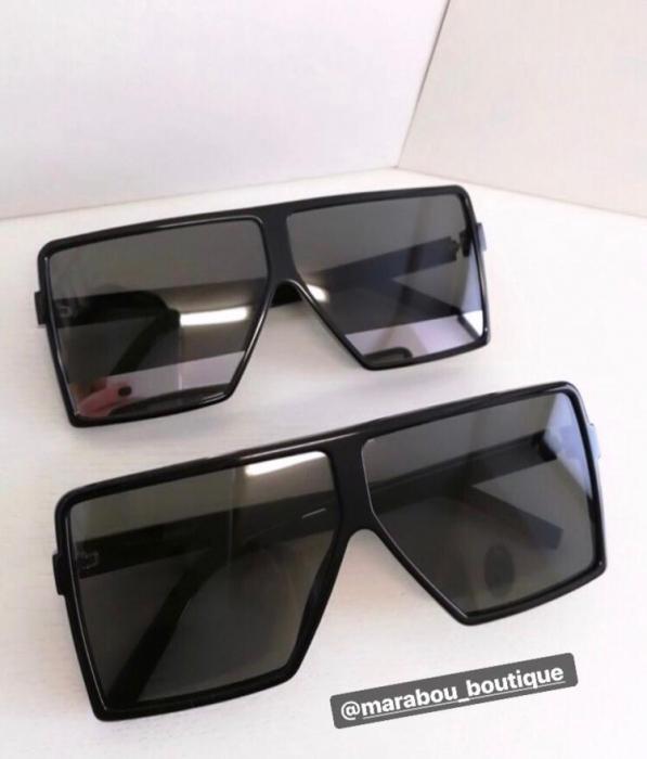 Ochelari de Soare Unisex Supradimensionati Negri 5