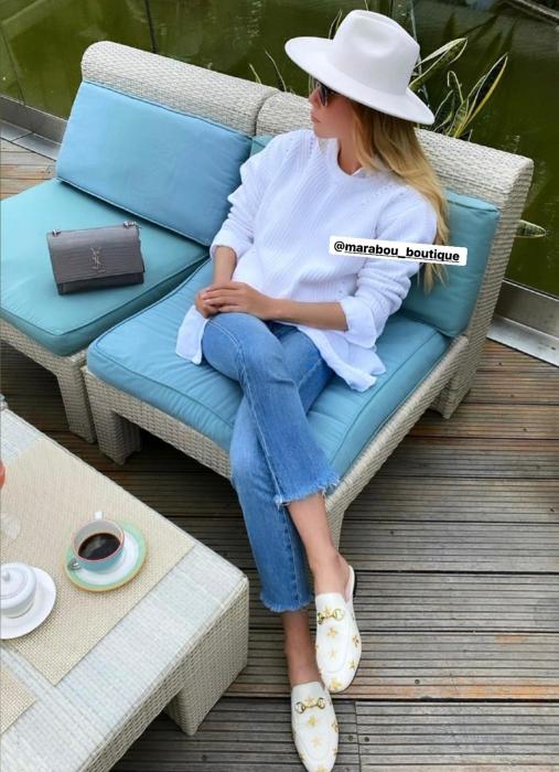"Palarie Alba Handmade ""Christian Dior"" [36]"