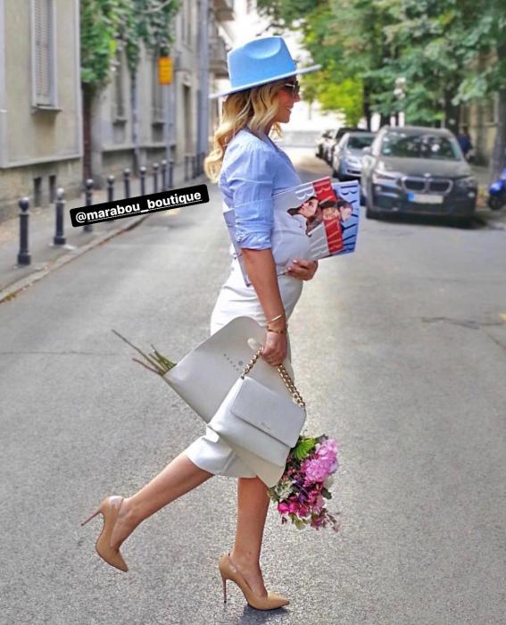 """Palarie Albastru deschis Handmade """"Christian Dior"""" [11]"""