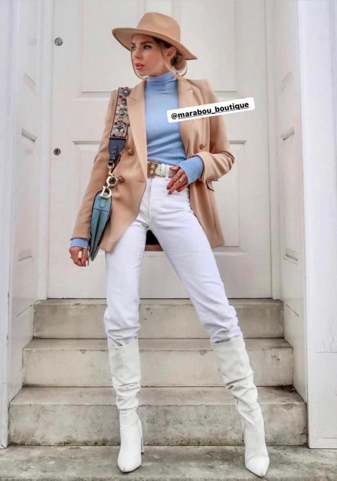 Palarie Bej Handmade cu bentita detasabila din piele 8