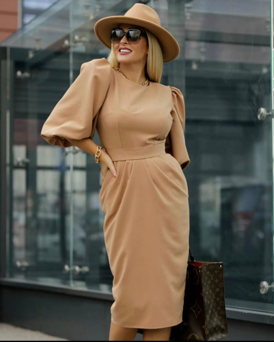 Palarie Bej Handmade cu bentita detasabila cu perle Luxury 16
