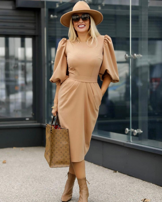 Palarie Bej Handmade cu bentita detasabila cu perle Luxury 15