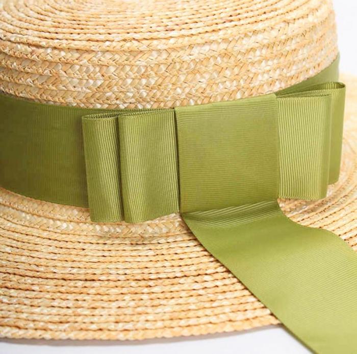 Palarie de Soare Handmade din paie cu bentita detasabila si accesoriu la alegere 8