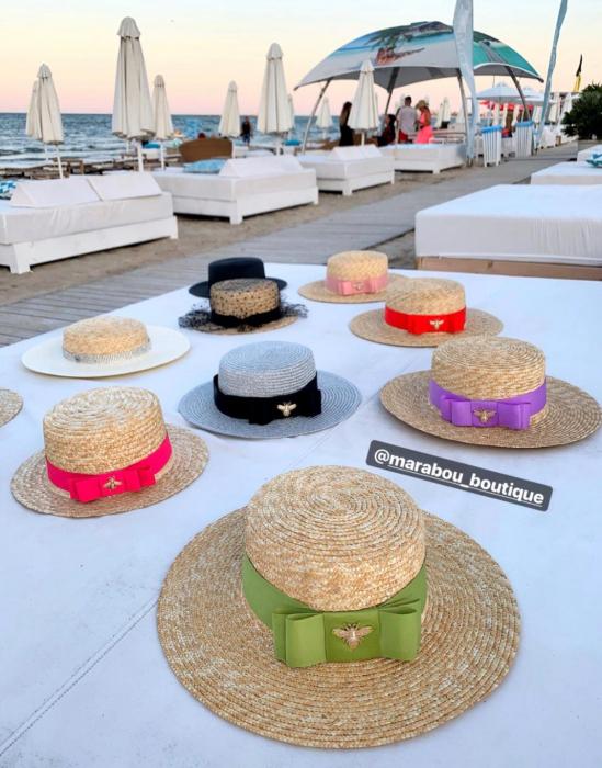 Palarie de Soare Handmade din paie cu bentita detasabila cu Perle Luxury 14