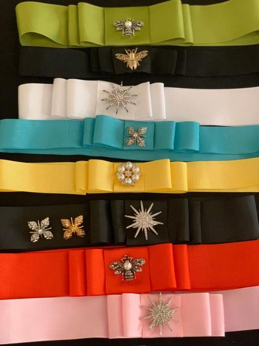 Palarie de Soare Handmade din paie in 2 culoricu funda neagra 13