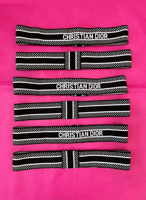 "Palarie Neagra Handmade ""Christian Dior"" 2"