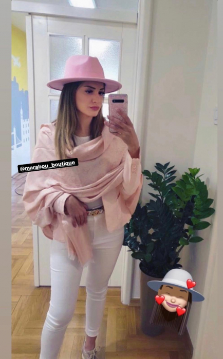 Palarie Roz Handmade cu bentita detasabila si brosa la alegere [23]