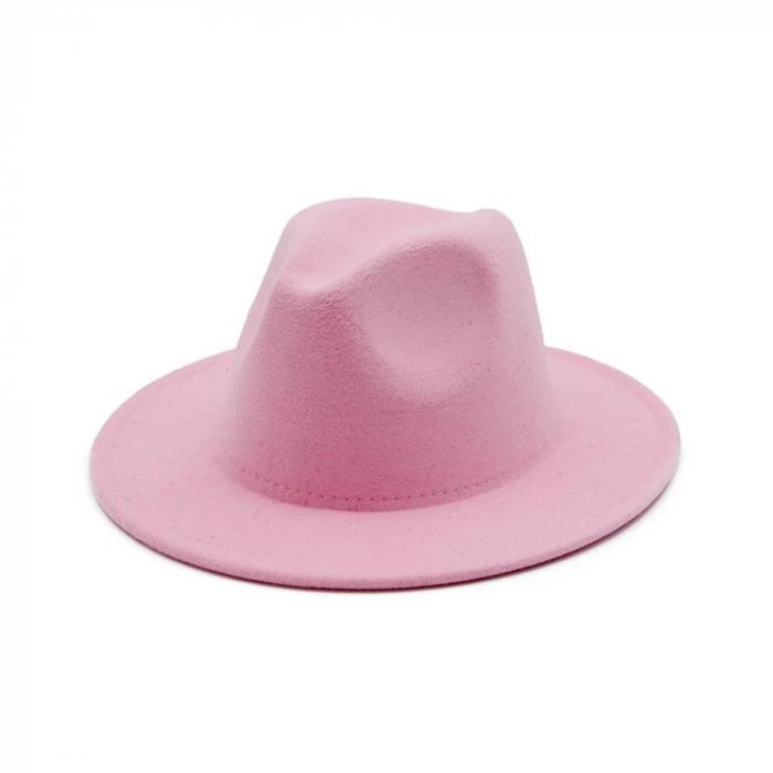 Palarie Roz Handmade cu bentita detasabila cu perle 18